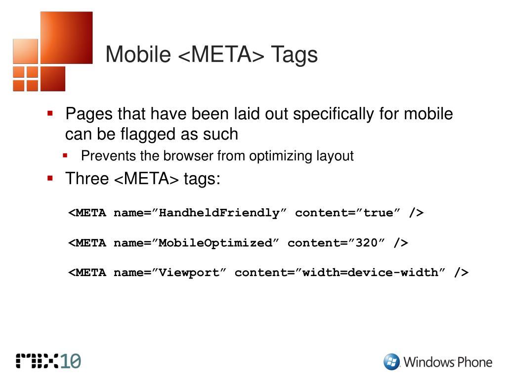 Mobile <META> Tags