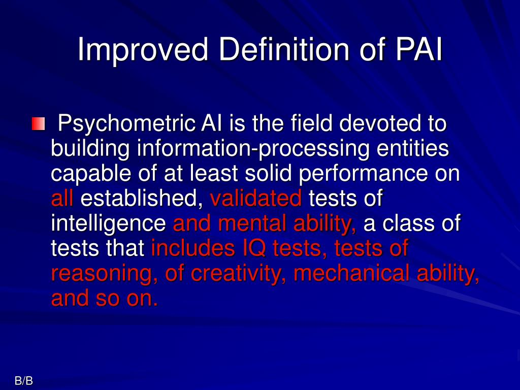 Improved Definition of PAI