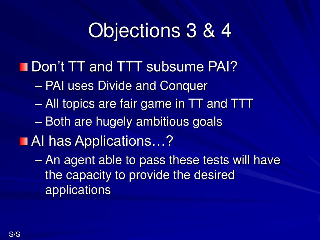 Objections 3 & 4