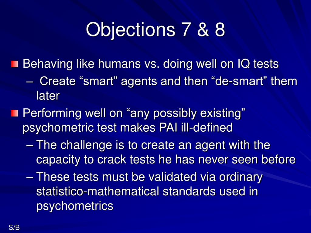 Objections 7 & 8