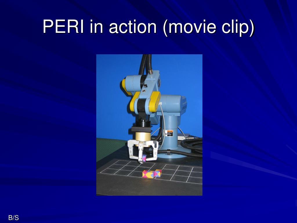 PERI in action (movie clip)
