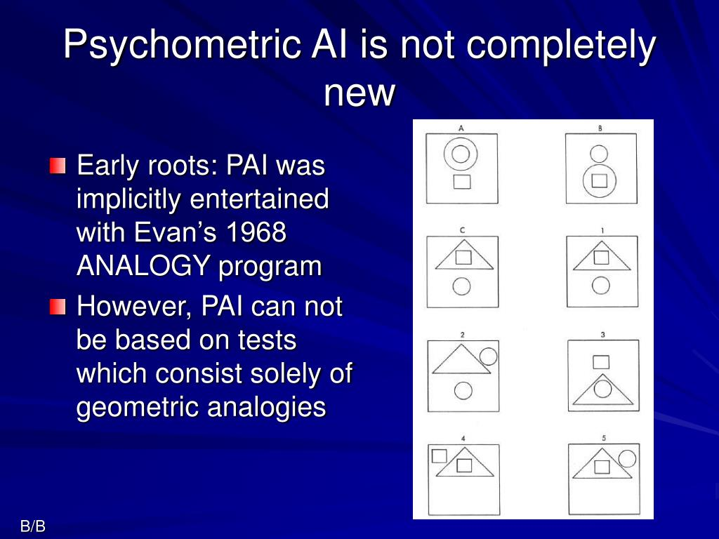 Psychometric AI is not completely new