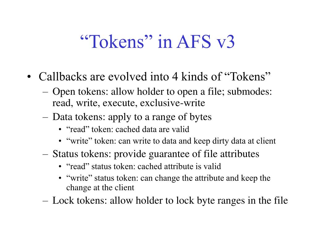 """Tokens"" in AFS v3"