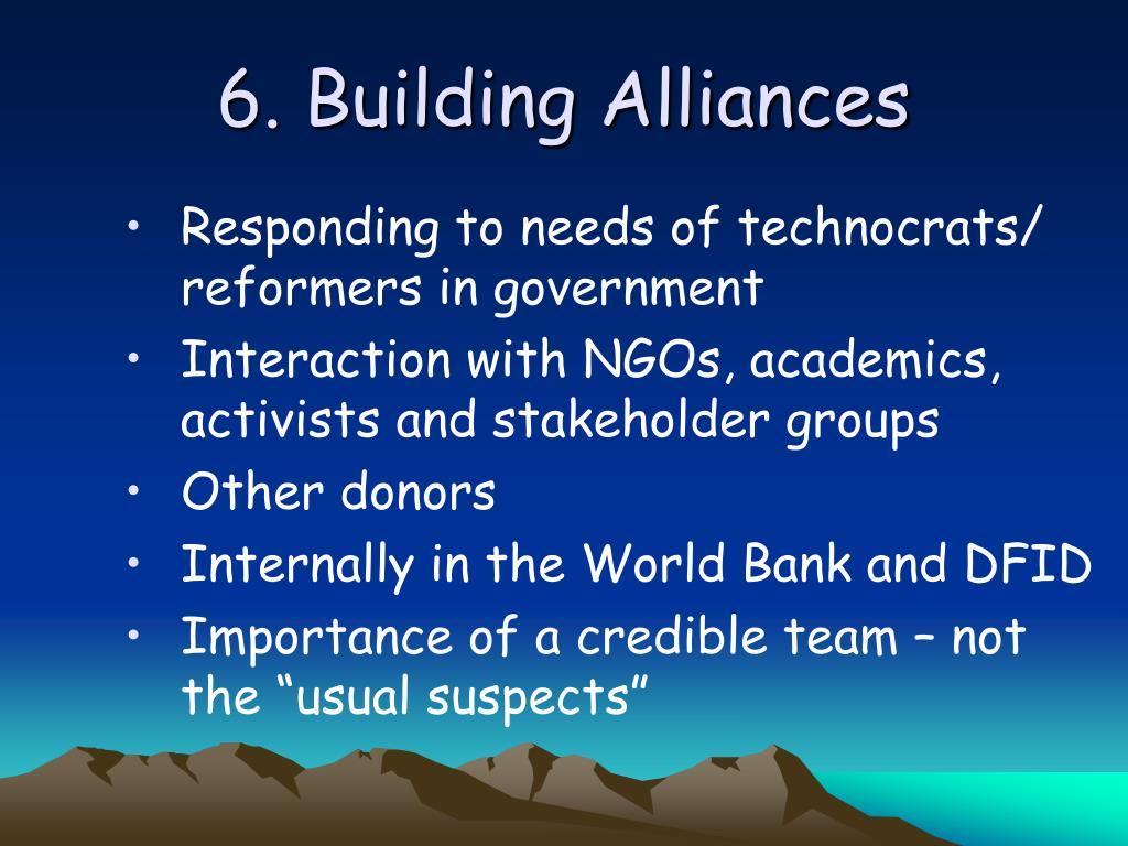 6. Building Alliances
