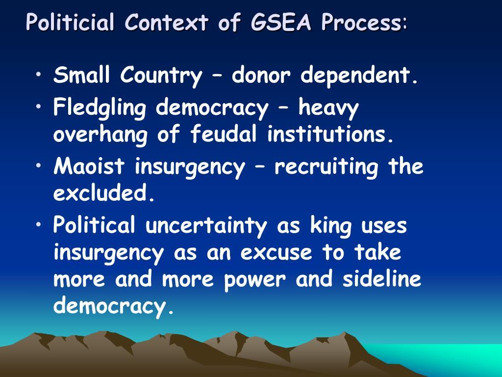 Politicial Context of GSEA Process
