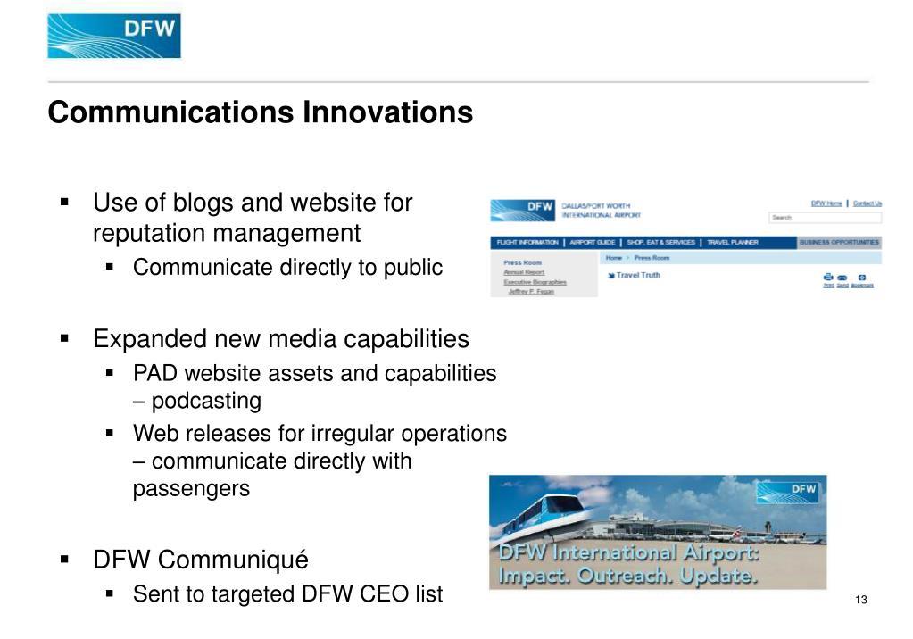 Communications Innovations