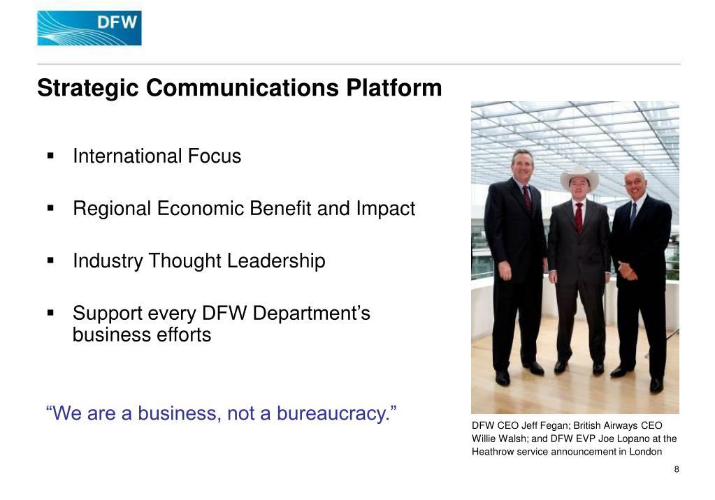 Strategic Communications Platform