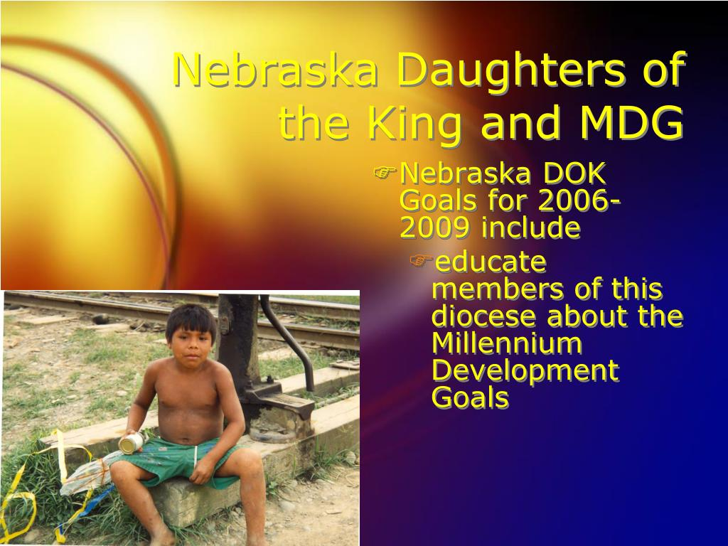 Nebraska Daughters of the King and MDG