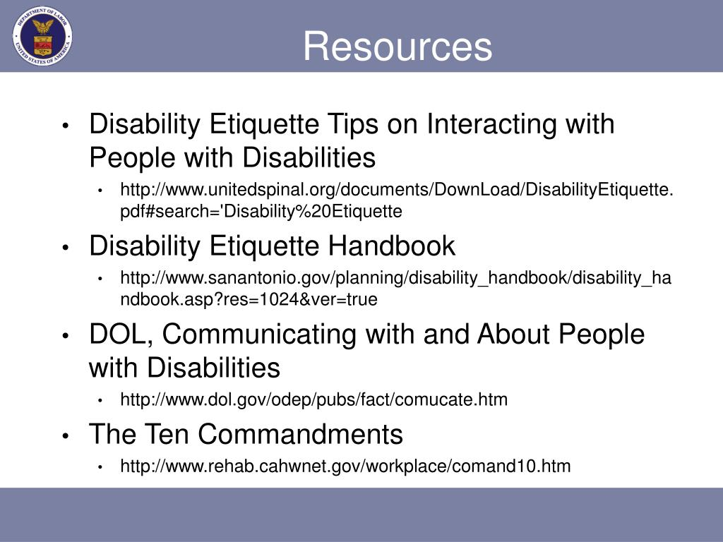 disability awareness in the workplace Disability and diversity awareness  the state of tn to raise awareness about disability employment issues and celebrate the  or workplace settings lessons.