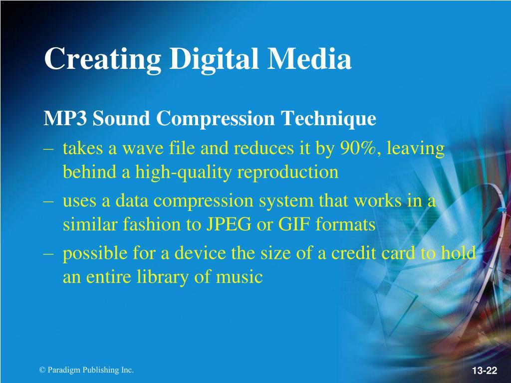 MP3 Sound Compression Technique