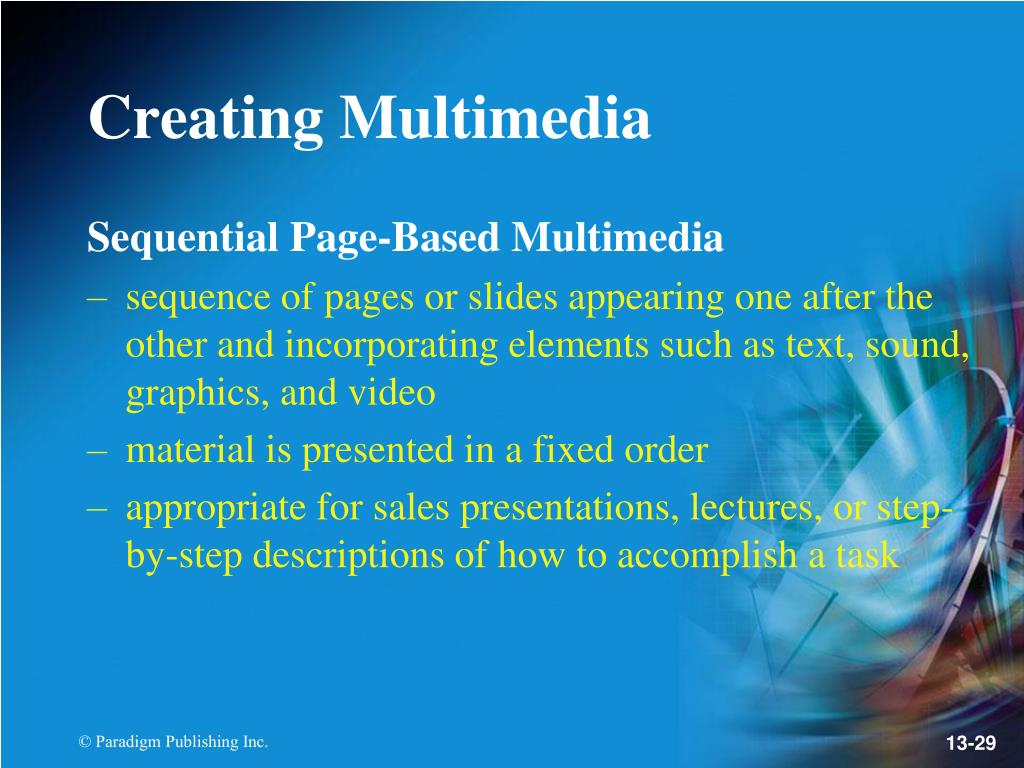 Sequential Page-Based Multimedia