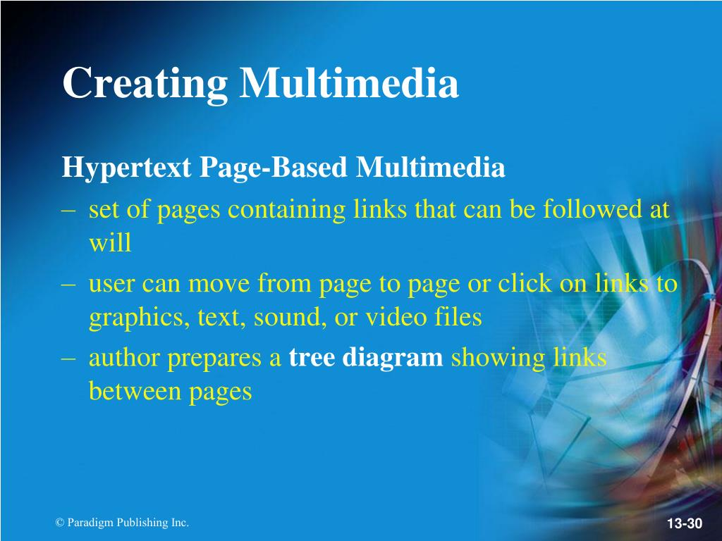 Hypertext Page-Based Multimedia