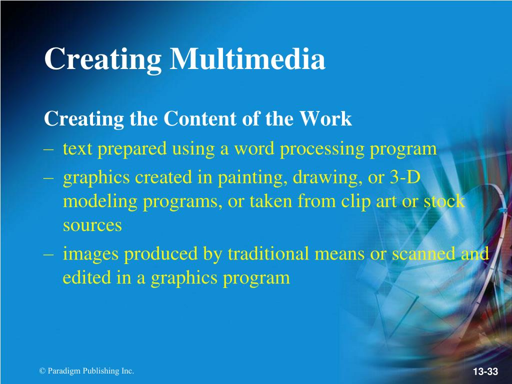Creating the Content of the Work