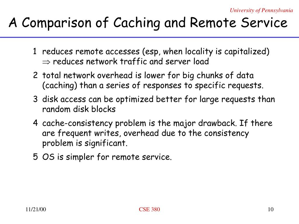 A Comparison of Caching and Remote Service