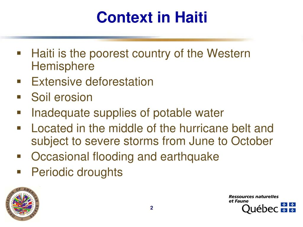 Context in Haiti