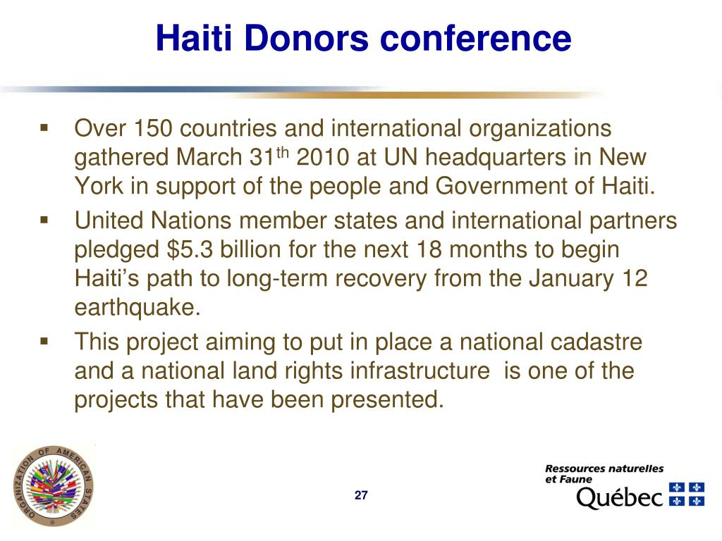 Haiti Donors conference