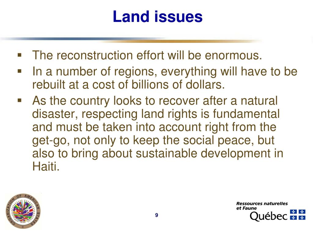 Land issues