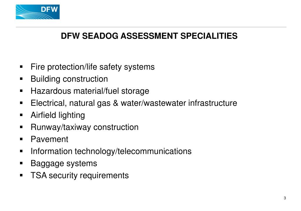 DFW SEADOG ASSESSMENT SPECIALITIES