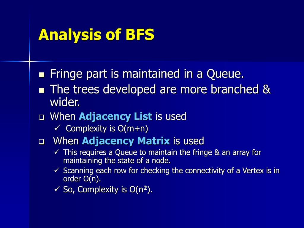 Analysis of BFS