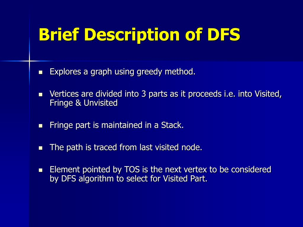 Brief Description of DFS