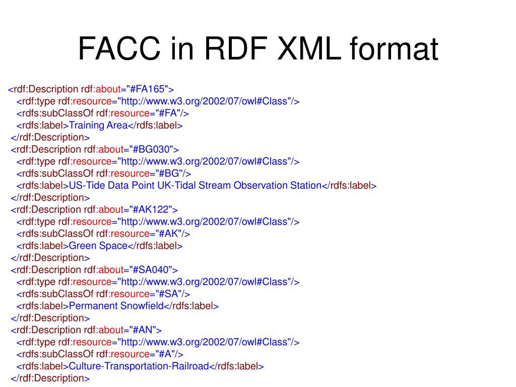 FACC in RDF XML format