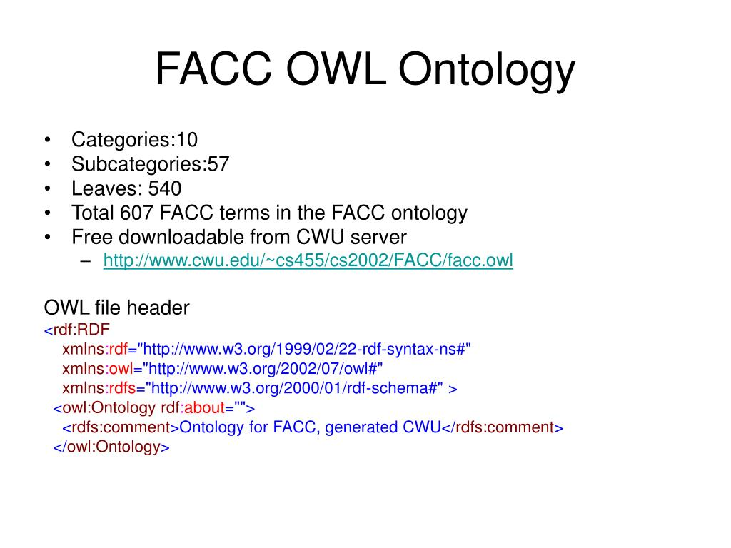 FACC OWL Ontology