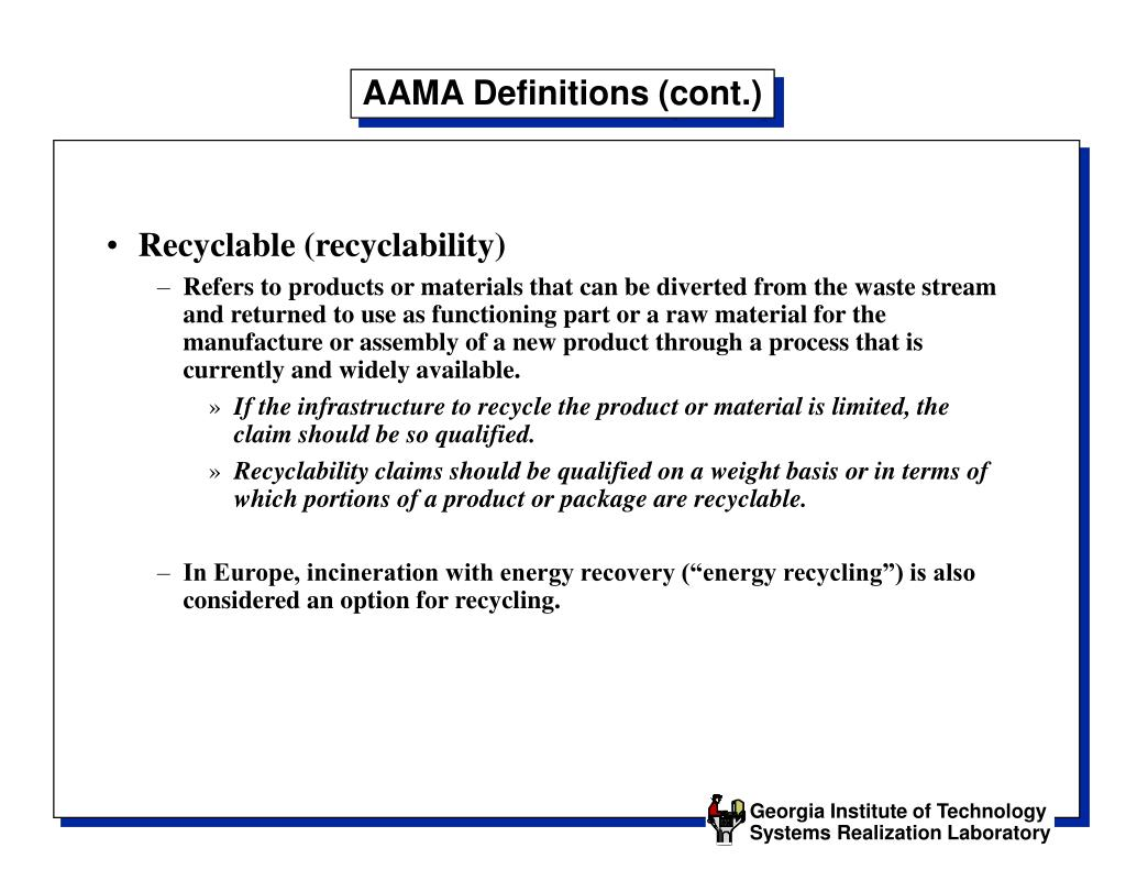 AAMA Definitions (cont.)