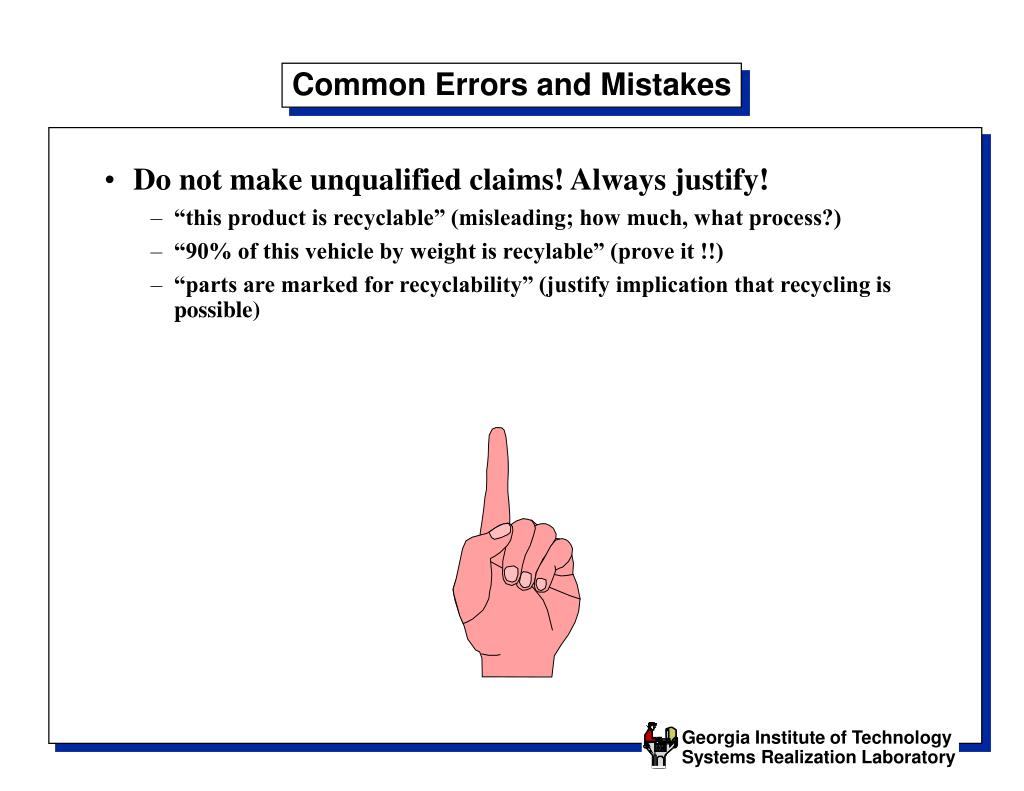 Common Errors and Mistakes