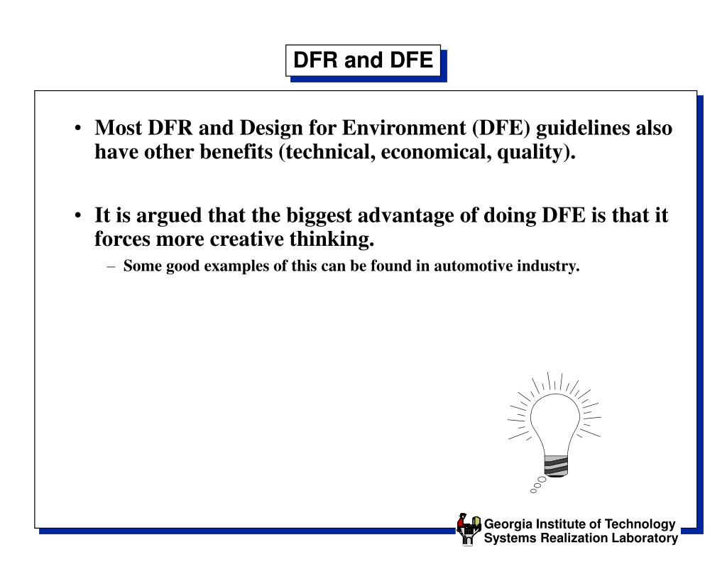 DFR and DFE