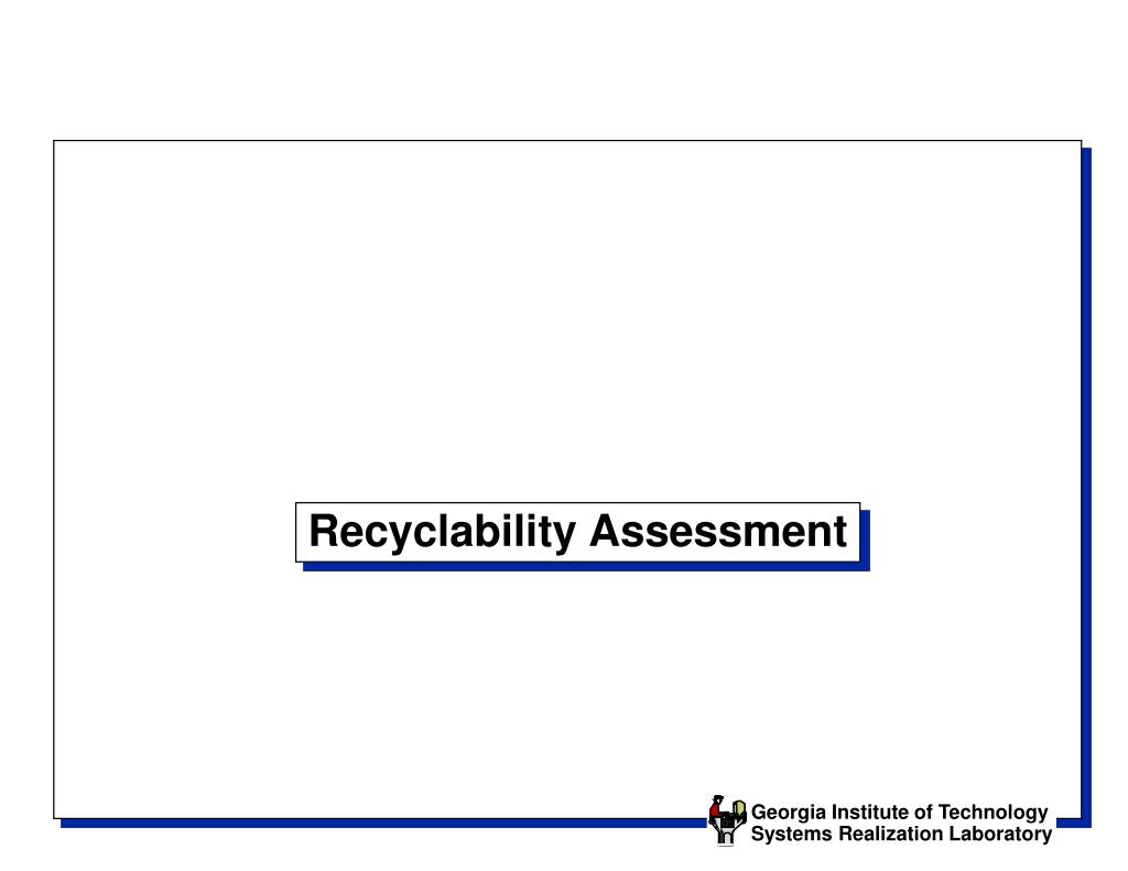 Recyclability Assessment