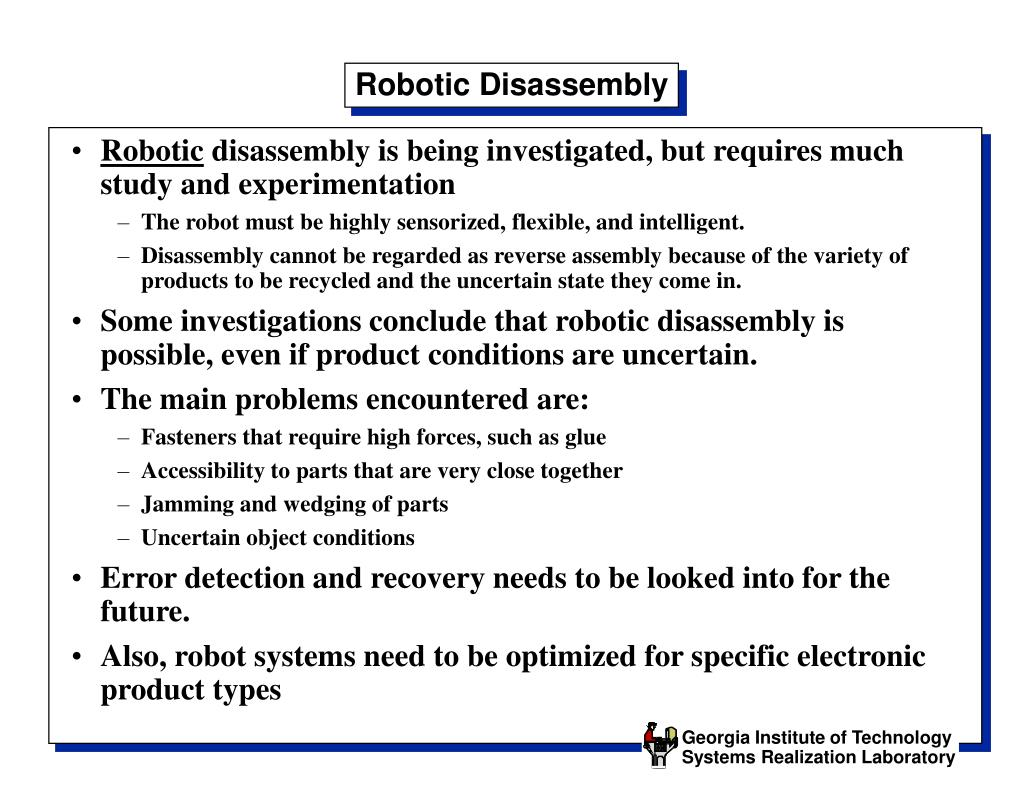Robotic Disassembly