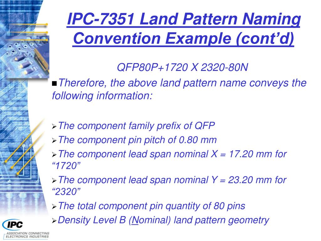 IPC-7351 Land Pattern Naming Convention Example (cont'd)