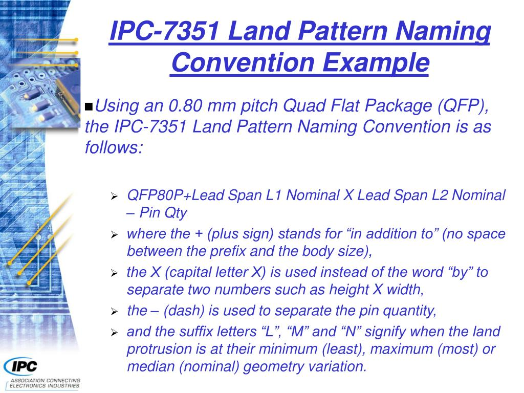 IPC-7351 Land Pattern Naming Convention Example