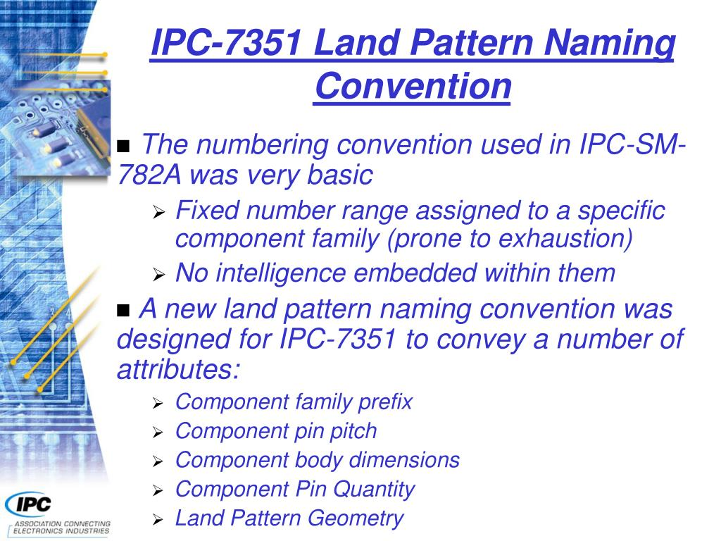 IPC-7351 Land Pattern Naming Convention