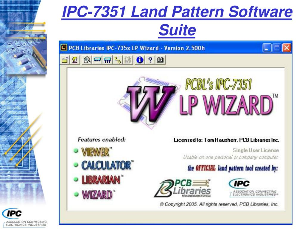 IPC-7351 Land Pattern Software Suite