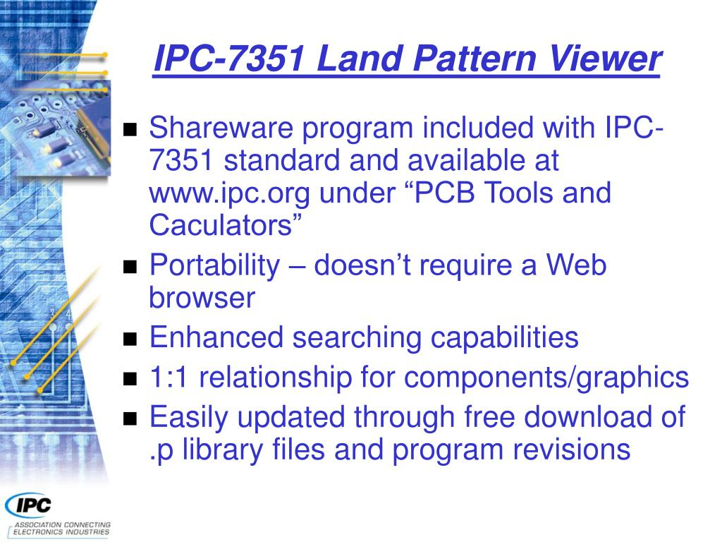 IPC-7351 Land Pattern Viewer