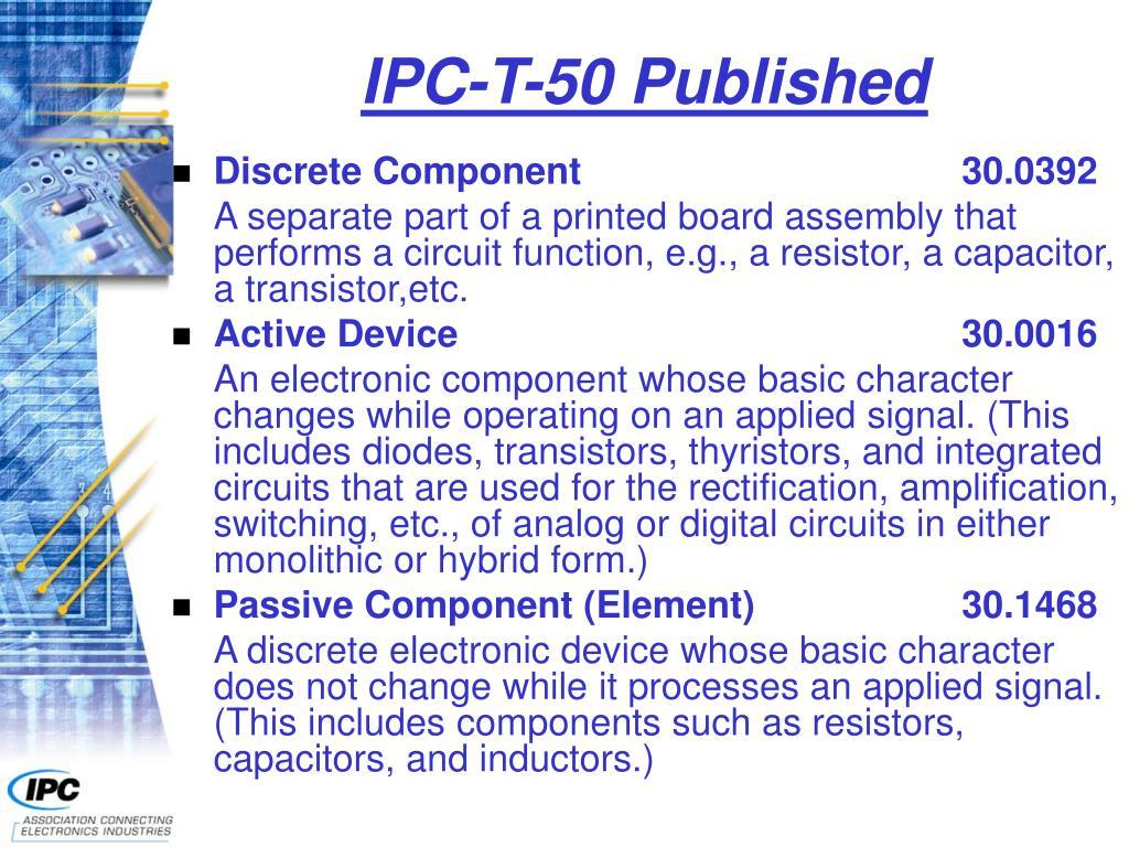 IPC-T-50 Published