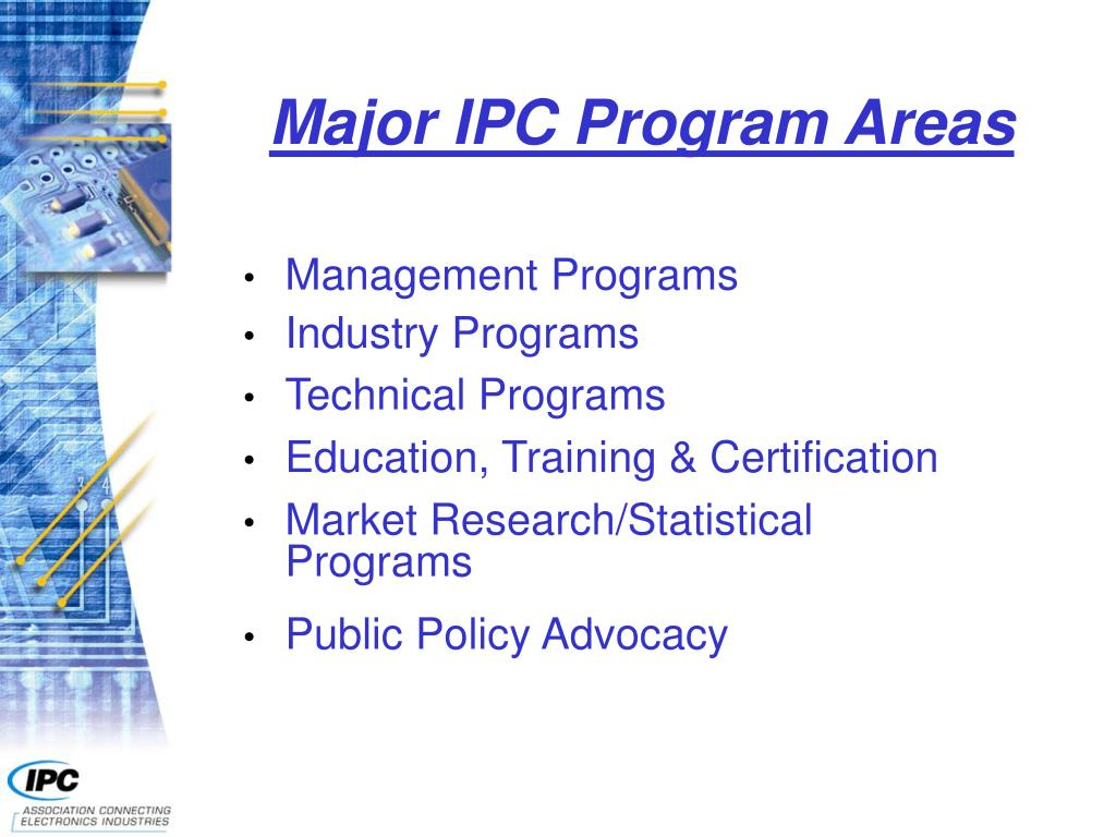 Major IPC Program Areas