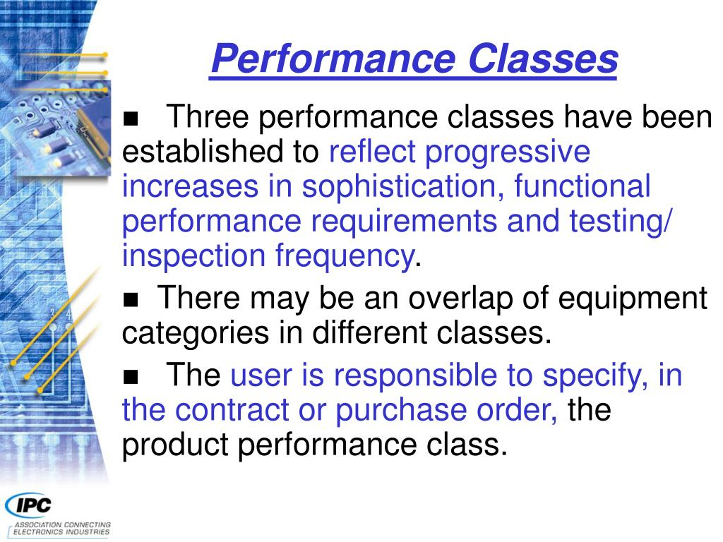 Performance Classes