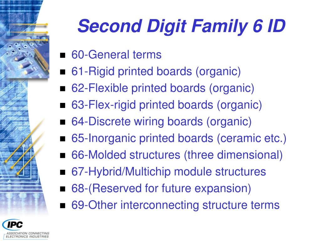Second Digit Family 6 ID