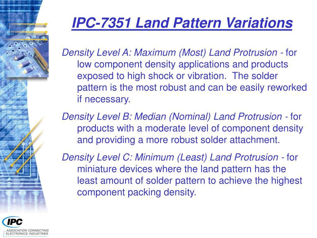 IPC-7351 Land Pattern Variations