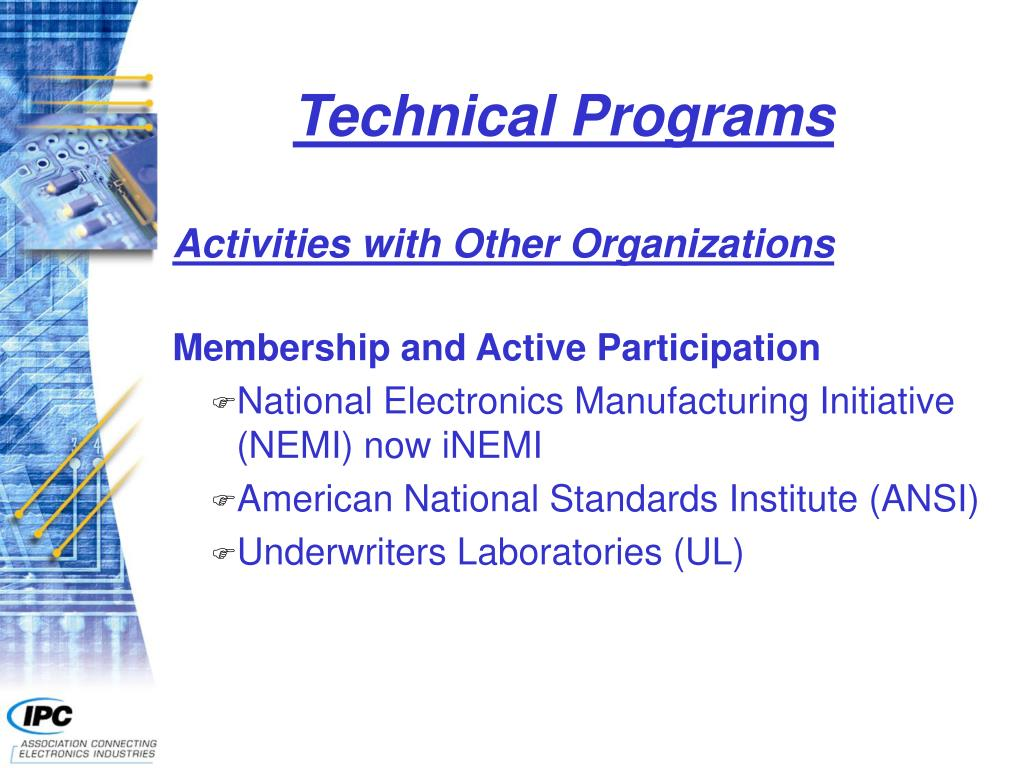Technical Programs