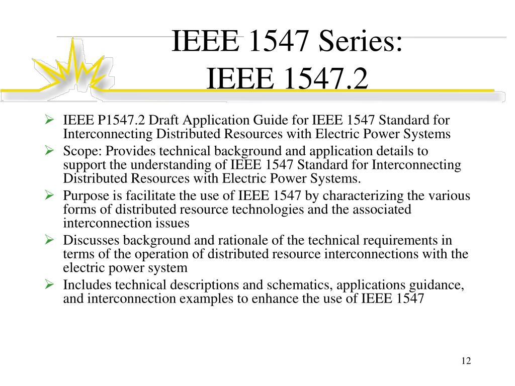 IEEE 1547 Series: