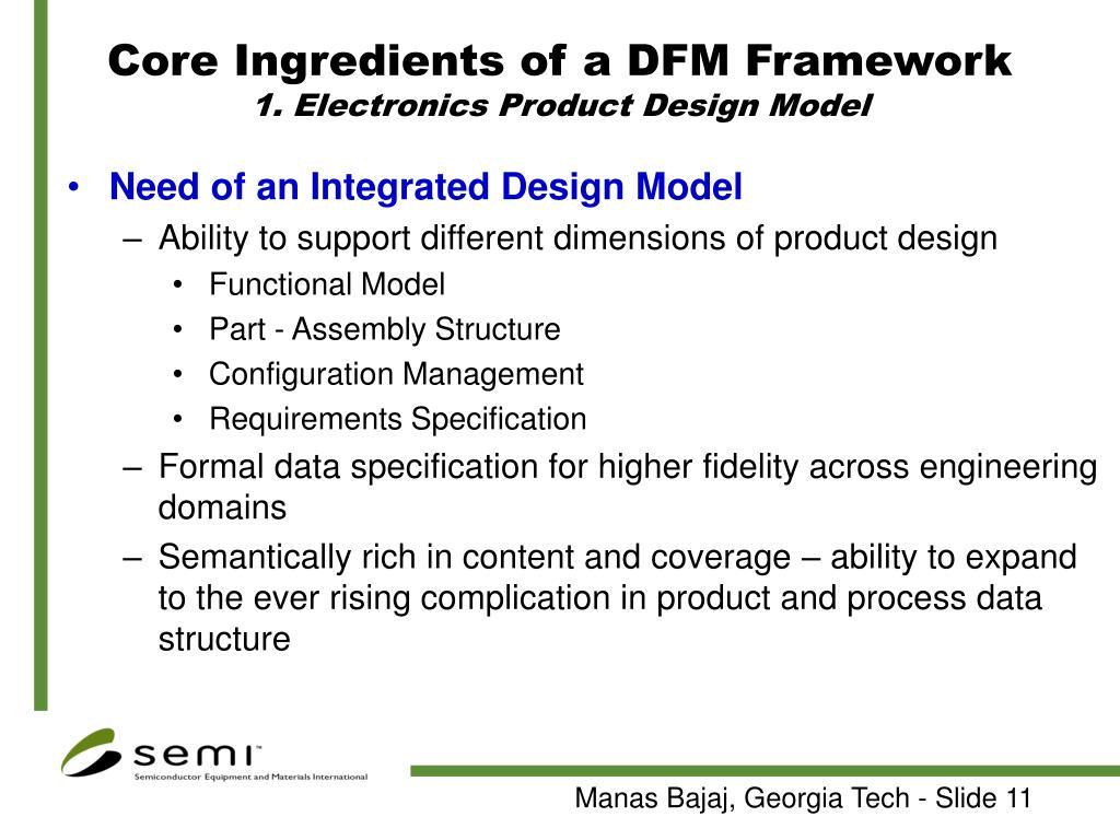 Core Ingredients of a DFM Framework