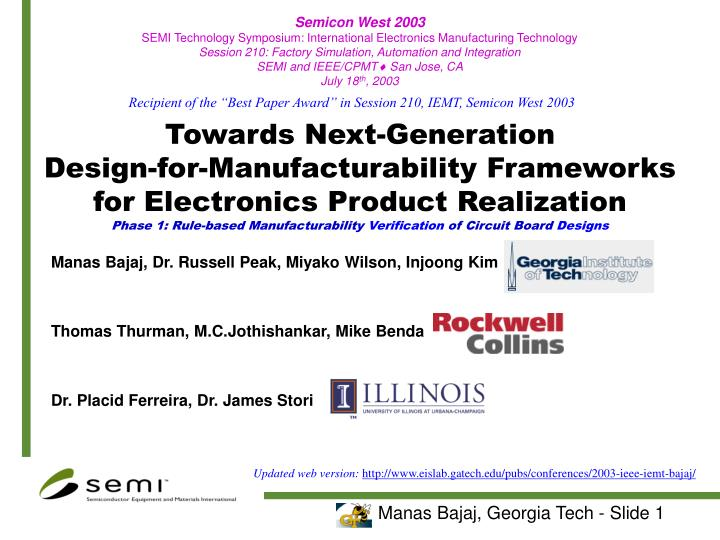 Semicon West 2003