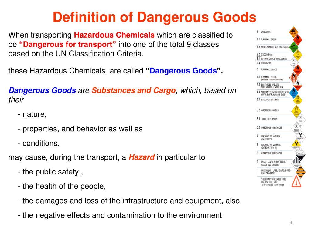 Definition of Dangerous Goods