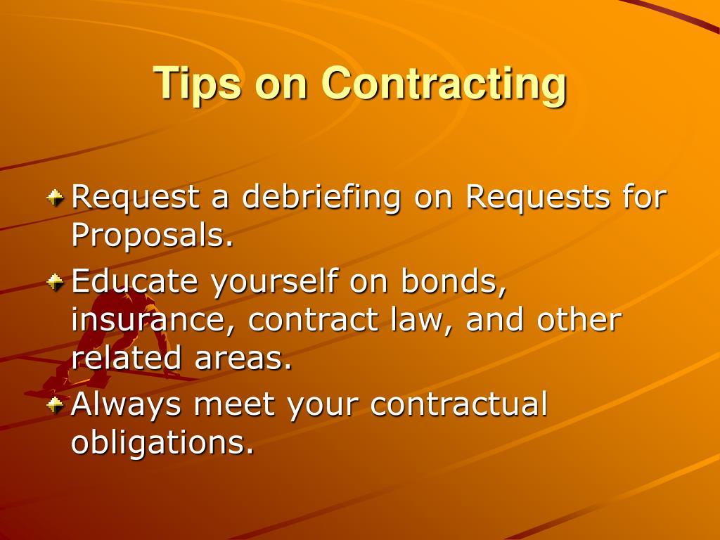 Tips on Contracting