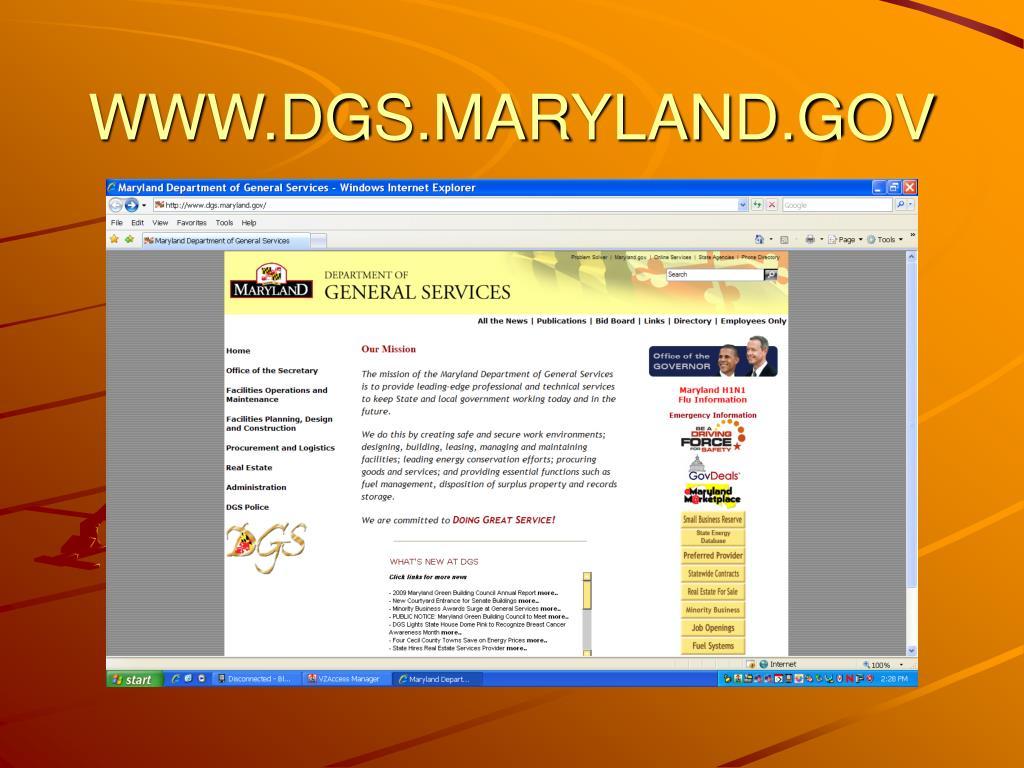 WWW.DGS.MARYLAND.GOV