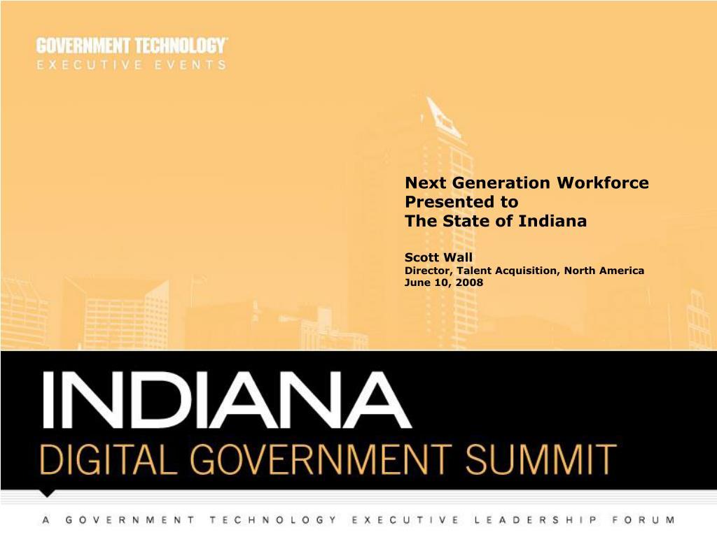 Next Generation Workforce