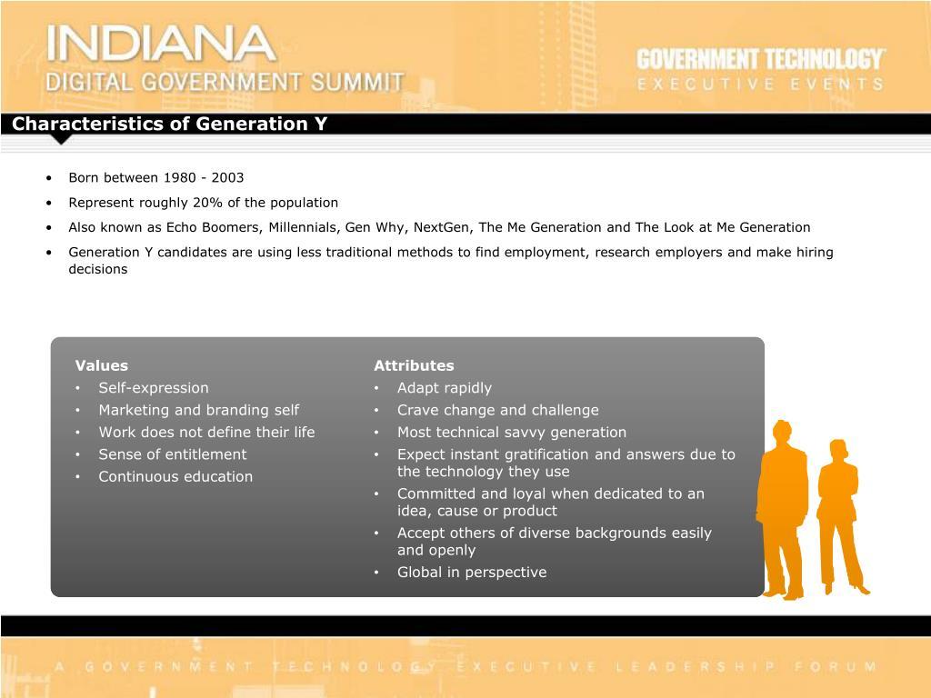 Characteristics of Generation Y